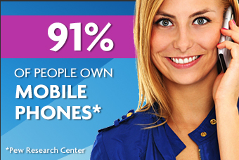 91% of Americans own mobile phones